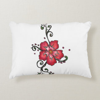 Floral swirl design accent pillow