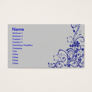 FLORAL SWIRL design graphics nature beauty flowers Business Card