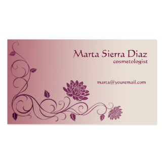 Floral Swirl Edge Business Card