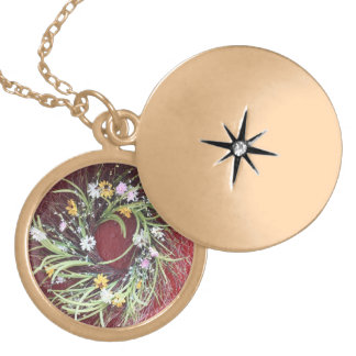 Floral Swirl Gold Plated Necklace