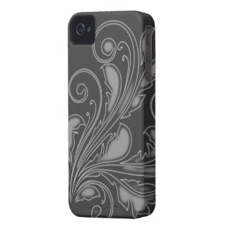 Floral Swirl ~ Grey iPhone 4 Cover