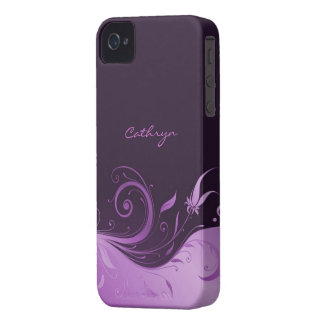 Floral Swirl iPhone 4/4S Case-Mate Barely There iPhone 4 Case-Mate Case