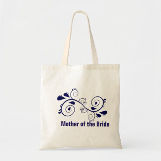 Floral Swirl Mother of the Bride Wedding Tote Bag