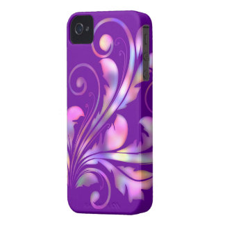 Floral Swirl ~ Multi-color Purple & Pink iPhone 4 Case