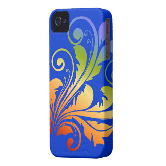Floral Swirl ~ Rainbow iPhone 4 Case