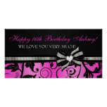 Floral Swirl Sweet Sixteen Banner Posters