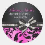 Floral Swirl Sweet Sixteen Sticker