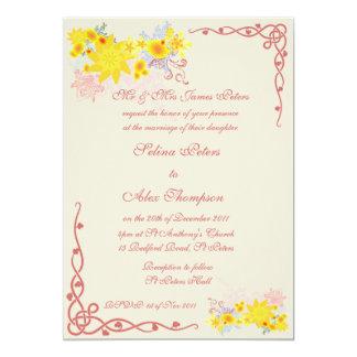 Floral Swirl Wedding Invitation