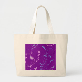 Floral Swirls and Butterflies Tote Bags