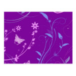 Floral Swirls and Butterflies Post Card