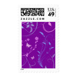 Floral Swirls and Butterflies Postage