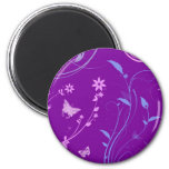 Floral Swirls and Butterflies Refrigerator Magnets