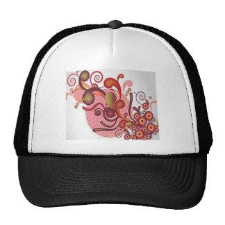 Floral swirls design trucker hat