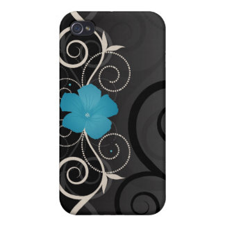 Floral Swirls i iPhone 4 Cover