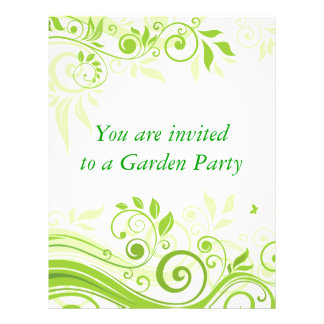 Floral Swirls in Hues of Fresh Green Flyer