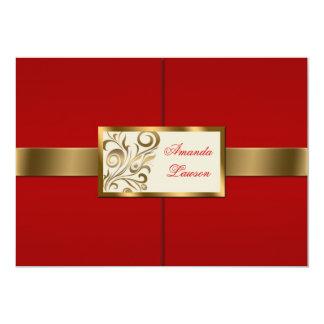 """Floral Swirls Invitation 5"""" X 7"""" Invitation Card"""