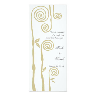 Floral Swirls Invitation T White