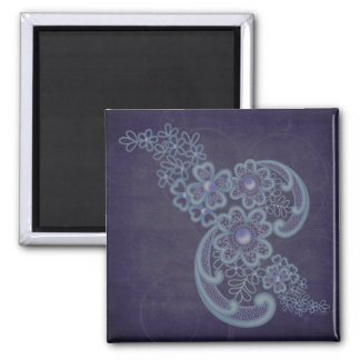 Floral Swirls Fridge Magnet