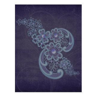 Floral Swirls Postcard