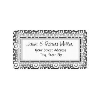 Floral Swirls Silver Address Labels label