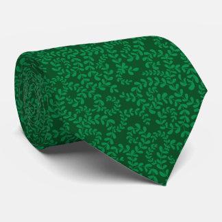 Floral Swirls Tonal Green Tie
