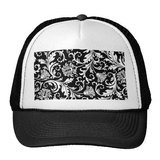 floral swirls trucker hat