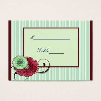 Floral Swirls Wedding Business Card