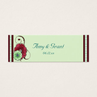 Floral Swirls Wedding Mini Business Card