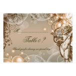 Floral swirls wedding table number card business cards