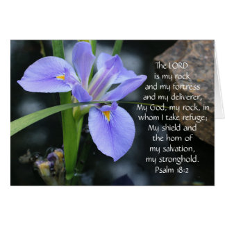 Floral Sympathy, Scripture Verse on God's Strength Greeting Card
