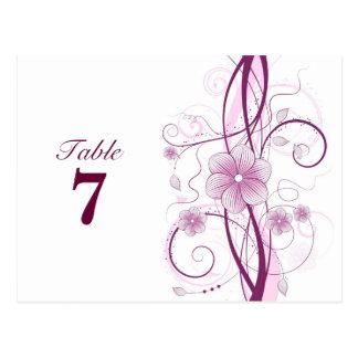Floral Table Number Postcard