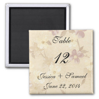 Floral Table Place Numbers Magnet