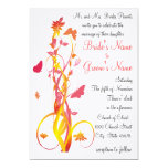 Floral Tangle with Butterflies Wedding Invitation