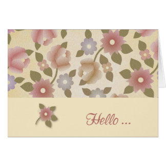 Floral Tapestry Hello Card