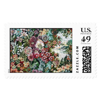 Floral Tapestry (horizontal) Postage Stamps