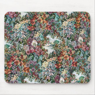 Floral Tapestry Mouse Pad
