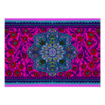 Floral Tapestry Poster