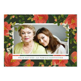 Floral Tarjeta de Navidad Card