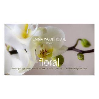 Floral - tarjeta de visita de la orquídea
