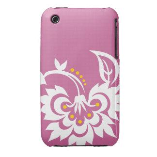 Floral Tattoo design iPhone 4 case Mauve White