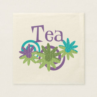 Floral Tea Paper Napkins - Whimsical Theme