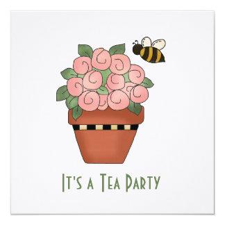 Floral Tea Party Invitation