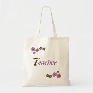 Floral Teacher Design Tote Bag