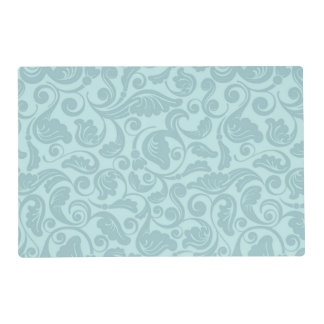 Floral Teal Placemat