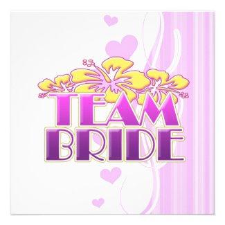 floral team bride bridesmaids wedding classy fun invitations
