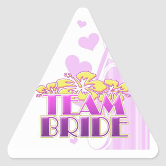 Floral Team Bride Bridesmaids wedding classy fun Triangle Sticker