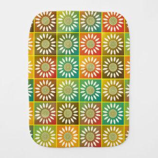 Floral tessellation burp cloth