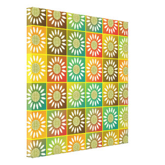 Floral tessellation canvas print
