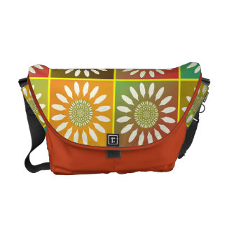 Floral tessellation courier bag