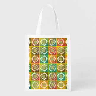 Floral tessellation grocery bag